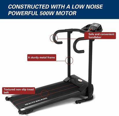 Fitnessclub-Folding-Electric-Best-Low-Noise-Treadmill-Under-£200[1]